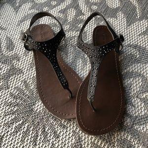 Express Black Diamond Sandals
